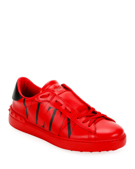 Valentino Men's Rockstud Walker VLTN Leather Sneakers
