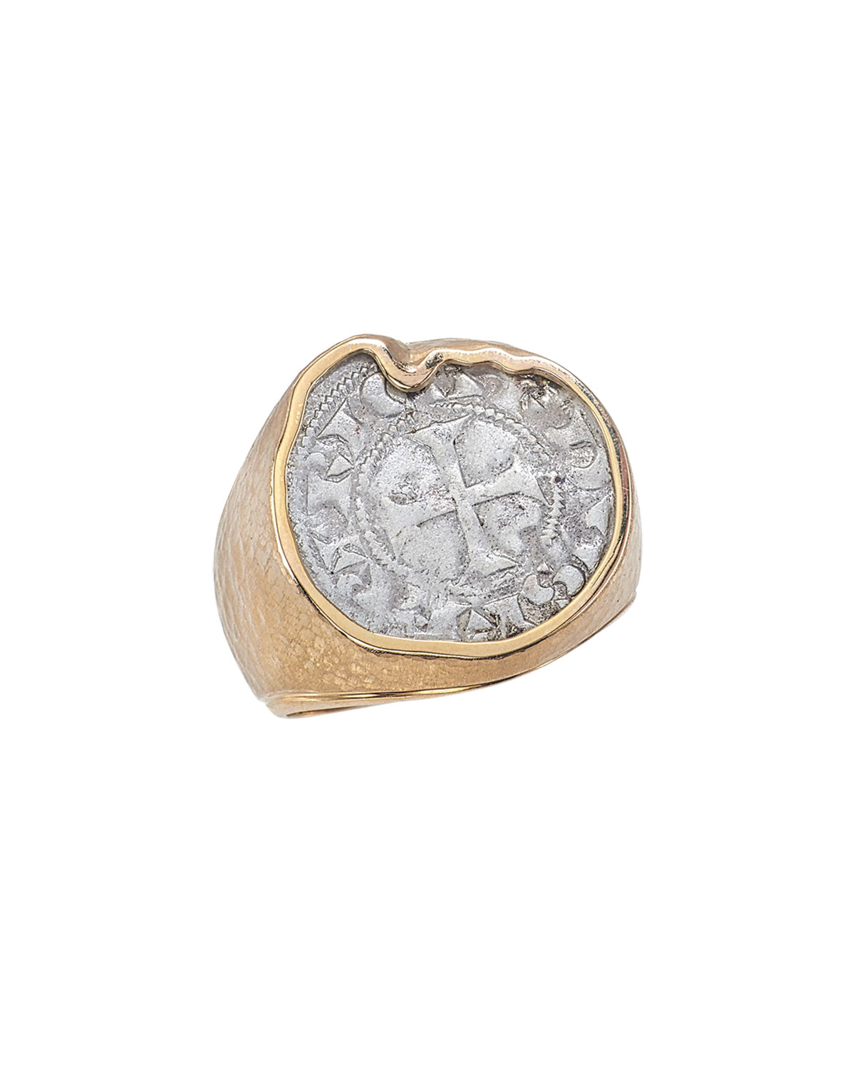 Men's Ancient Coin Signet Ring