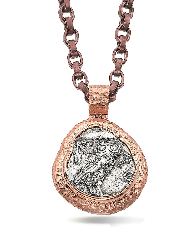 Men's 18K Rose Gold Ancient Coin Pendant