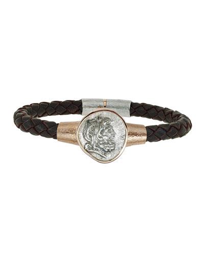 Men's Ancient Coin Leather Bracelet