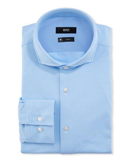 BOSS Men's Gingham Performance Dress Shirt