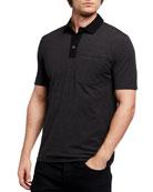 BOSS Men's Jersey Pocket Polo Shirt