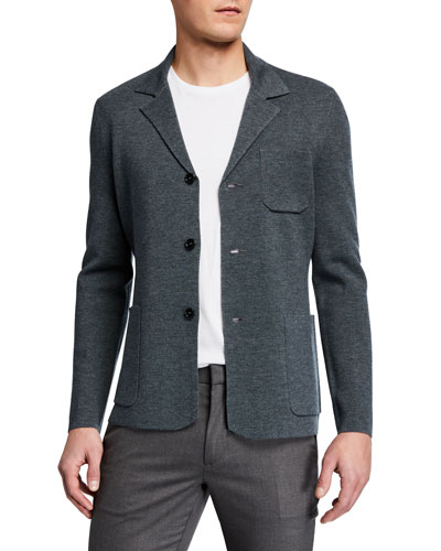 Men's Fitted Wool Blazer