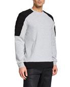 Karl Lagerfeld Men's Combo Crewneck Sweatshirt
