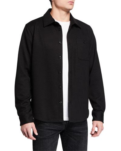 Men's Knit Shirt Jacket