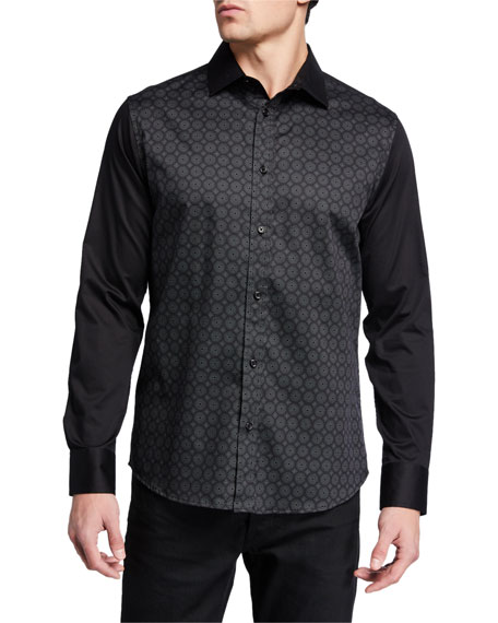 Karl Lagerfeld Men's Graphic-Print Sport Shirt