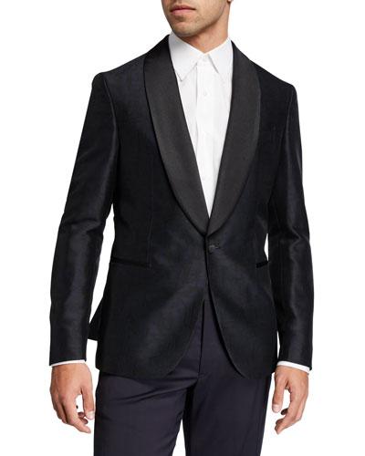 Men's Shawl-Collar Velvet Jacket