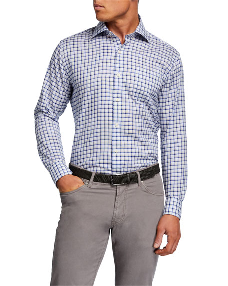 Peter Millar Men's Crown Multi-Check Sport Shirt