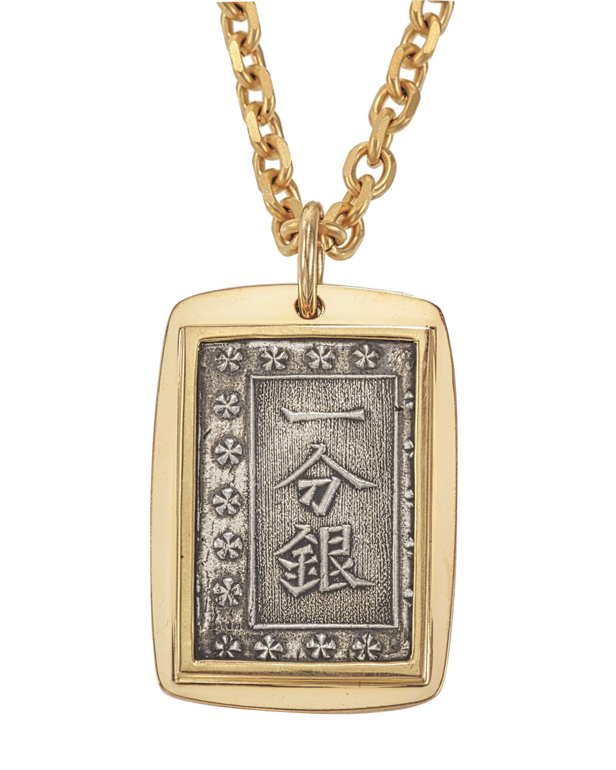 Jorge Adeler Jewelry MEN'S 18K GOLD ANCIENT SAMURAI COIN PENDANT