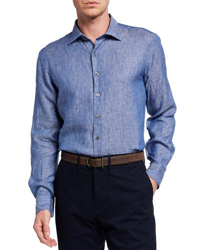 Men's Sea Marina Linen Sport Shirt