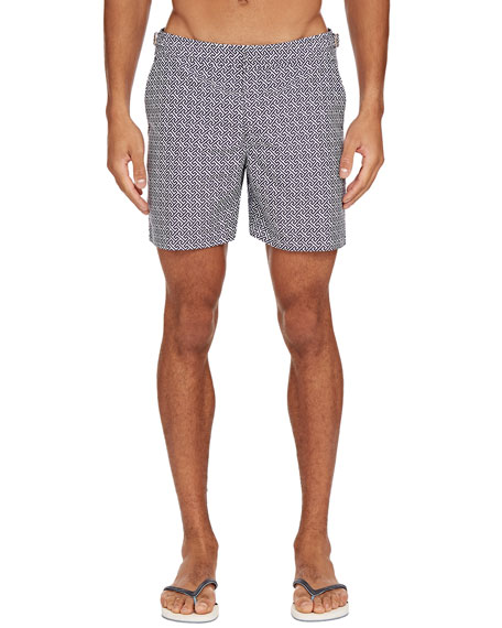 Orlebar Brown Men's Bulldog Laurito Geo-Print Trunks