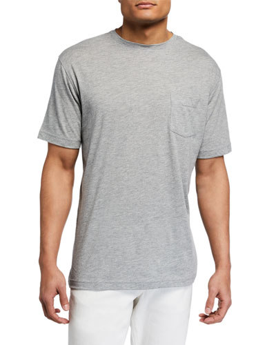 Men's Seaside Summer Soft Pocket T-Shirt