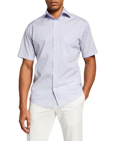 Peter Millar Men's Crown Tybee Breeze Short Sleeve Sport Shirt