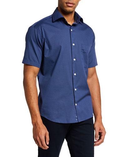 Men's Crown Block Island Short-Sleeve Sport Shirt