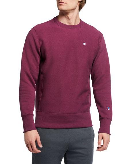 Champion Europe Men's Logo-Embroidered Crewneck Sweatshirt
