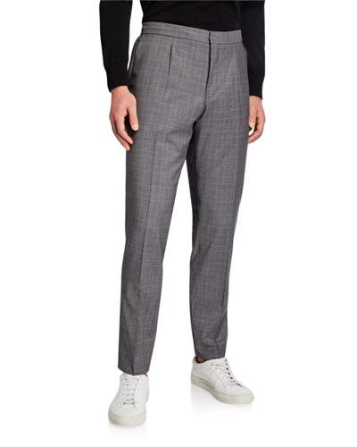 Men's Brider Glen Plaid Pleated Wool Trousers