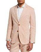 BOSS Men's Hanry Linen-Blend Suit Jacket
