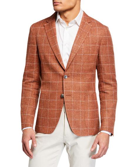 BOSS Men's Windowpane Check Sport Coat