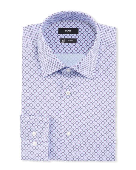 BOSS Men's Floral Travel Dress Shirt