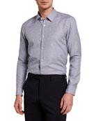 BOSS Men's Conversational Small Jacquard Sport Shirt