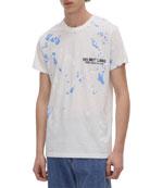 Helmut Lang Men's Paint Splatter Standard T-Shirt