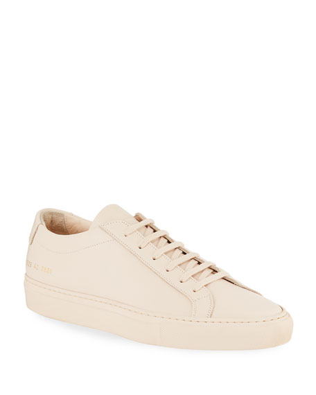 Common Projects Men's Achilles Leather Low-Top Sneakers