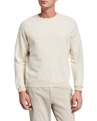 Men's Garment-Washed Raglan Sweatshirt