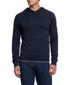 Boglioli Men's Solid Cotton/Cashmere Hooded Sweatshirt