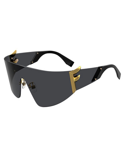 Men's FF Logo Shield Sunglasses