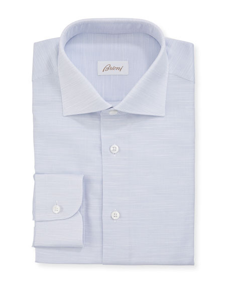 Brioni Men's Micro-Tic Cotton Dress Shirt