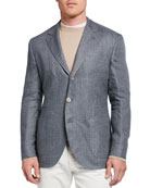 Brunello Cucinelli Men's Pinstripe Suit Jacket