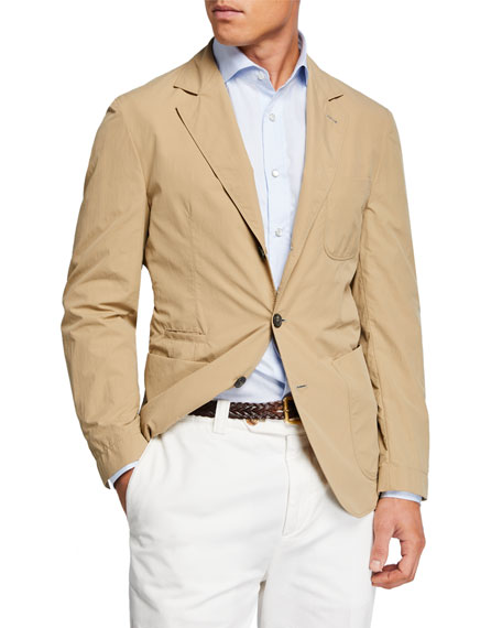 Brunello Cucinelli Men's Technical Weave Three-Button Jacket