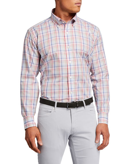 Peter Millar Men's Sunset Check Sport Shirt