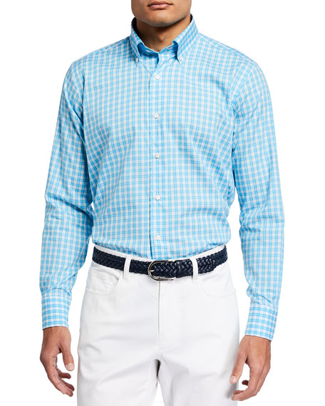 Peter Millar Men's Tides Tattersall Sport Shirt
