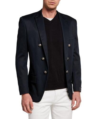 Men's 6-Button Tailored Sport Jacket