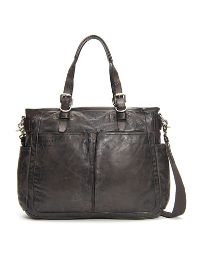 Men's Murray Antiqued Leather Tote Bag