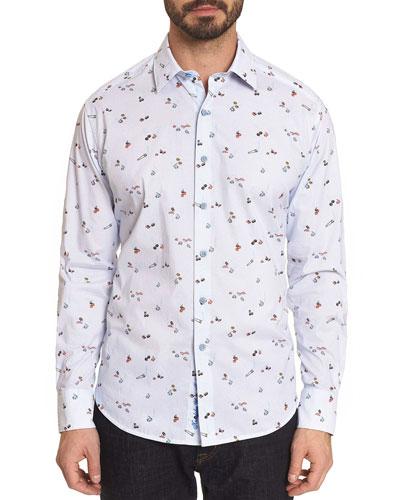 Men's Omakese Contrast-Reverse Sport Shirt