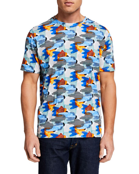 Robert Graham Men's Dragnet Cotton T-Shirt