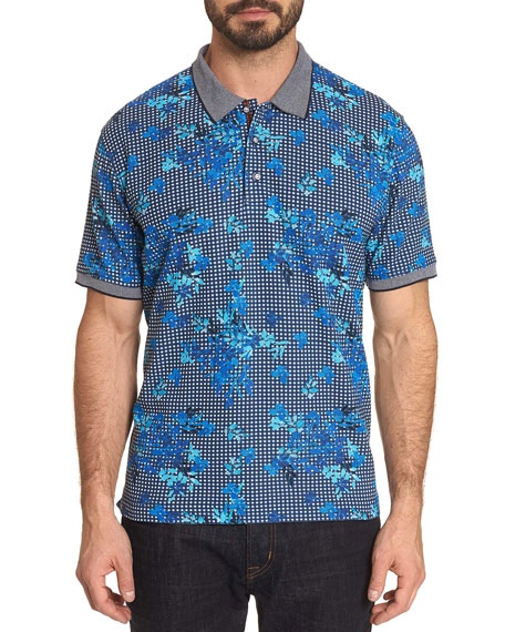 Robert Graham Men's Dirk Floral Check Polo Shirt