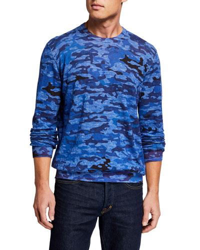 Men's Commander Linen-Cotton Camo T-Shirt