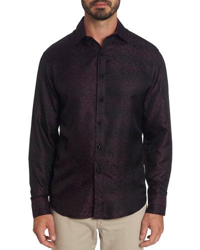 Men's Tonal Graphic Silk Sport Shirt