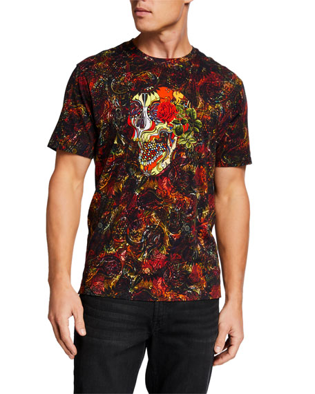 Robert Graham Men's Flor De Muerto Graphic T-Shirt