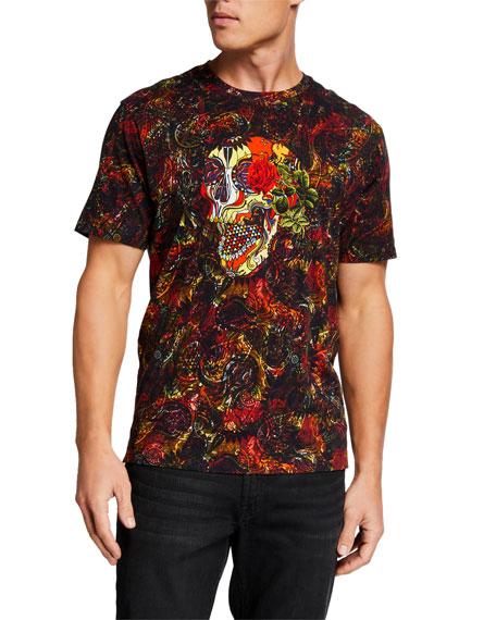 Robert Graham Men's Flor De Muerto Graphic T-Shirt