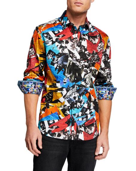 Robert Graham Men's Photorealistic Stretch-Cotton Sport Shirt