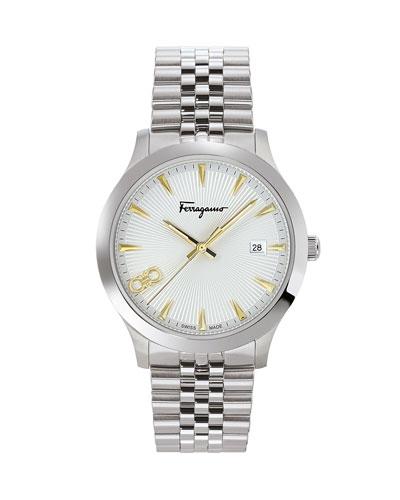 Men's 40mm Stainless Steel Bracelet Watch