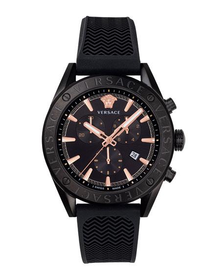 Versace Men's 44mm Rubber Chronograph Watch
