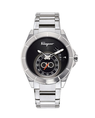 Men's 43mm Sub-Second Stainless Steel Watch