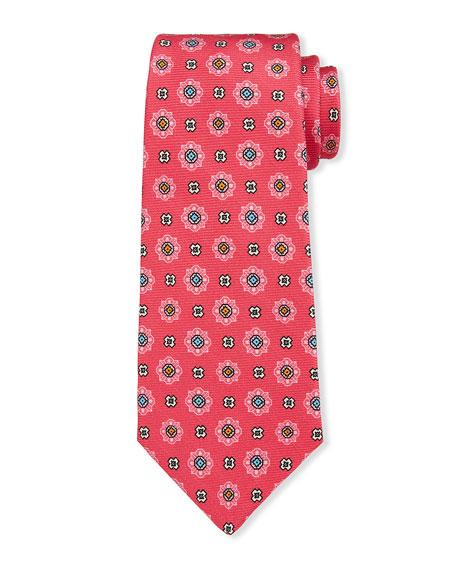 Kiton Men's Alternating Medallions Silk Tie