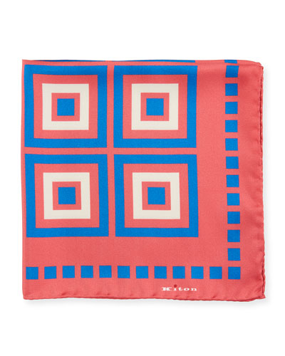Men's Large Boxes Silk Pocket Square