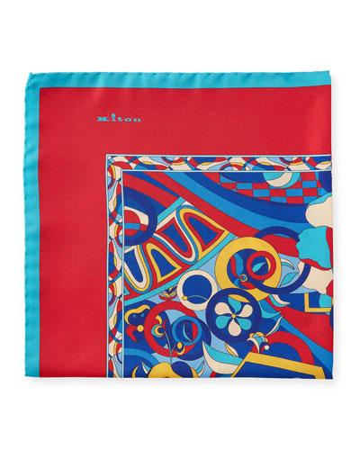Men's Psychedelic Silk Pocket Square